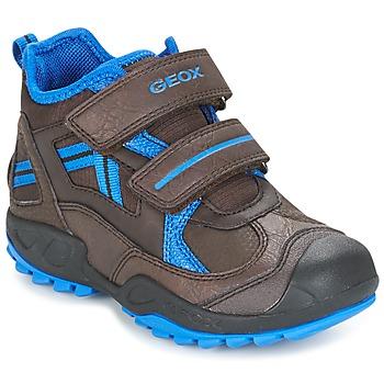 Skor Pojk Sneakers Geox J N.SAVAGE B.B Brun / Blå