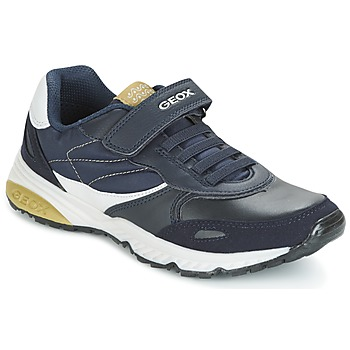 Skor Pojk Sneakers Geox J BERNIE A Marin / Grön