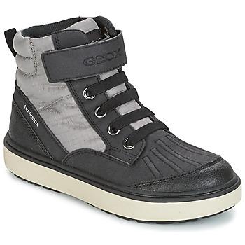 Skor Pojkar Höga sneakers Geox J MATT.B ABX B Grå / Svart