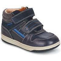 Skor Pojk Höga sneakers Geox B NEW FLICK B. A Marin / Blå