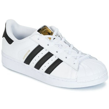 Skor Barn Sneakers adidas Originals SUPERSTAR Vit / Svart