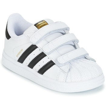 Skor Barn Sneakers adidas Originals SUPERSTAR CF I Vit / Svart