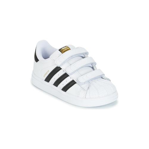 Skor Barn Sneakers adidas Originals SUPERSTAR CF I Vit / Svart