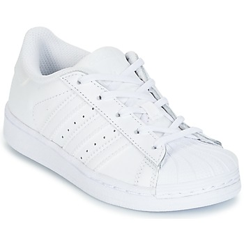 Skor Flickor Sneakers adidas Originals SUPERSTAR Vit
