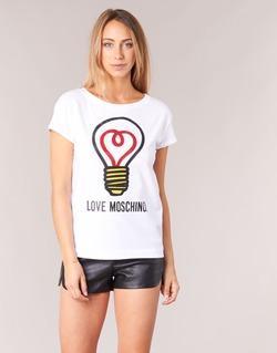 textil Dam T-shirts Love Moschino W4F3038E1512 Vit
