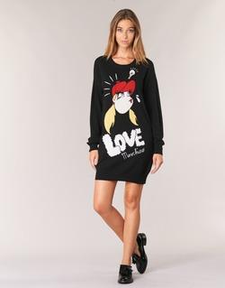 textil Dam Korta klänningar Love Moschino WS45S01X0608 Svart