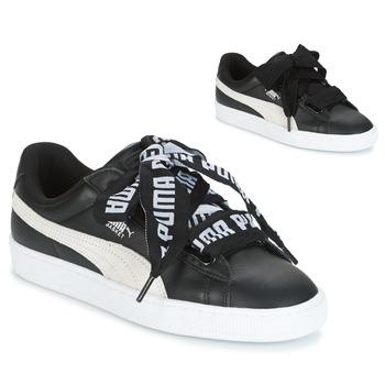 Skor Dam Sneakers Puma Basket Heart DE Svart / Vit