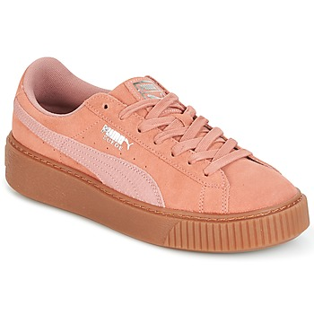 Skor Dam Sneakers Puma Suede Platform Core Gum Rosa