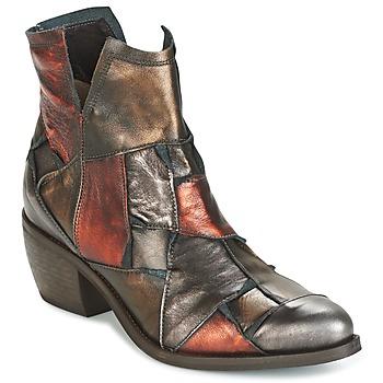 Skor Dam Boots Dkode JOELLE-MULTICOLORE-029 Brun
