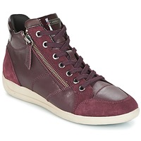 Skor Dam Höga sneakers Geox D MYRIA Bordeaux