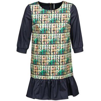textil Dam Korta klänningar Naf Naf ECAPS Svart / Flerfärgad