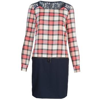 textil Dam Korta klänningar Naf Naf KLEMS Marin / Röd