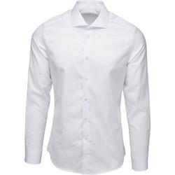 textil Herr Långärmade skjortor Bardvier Harvey White Vit