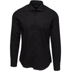 textil Herr Långärmade skjortor Bardvier Harvey Black Svart