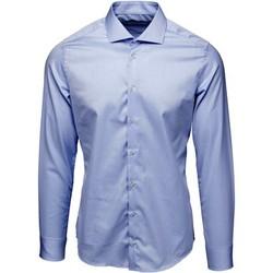 textil Herr Långärmade skjortor Bardvier Harvey Blue Bl?