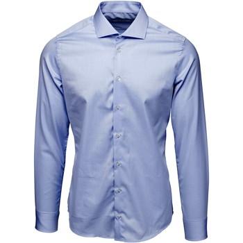 textil Herr Långärmade skjortor Bardvier Harvey Blue Bl