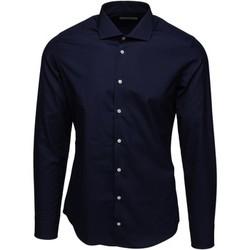 textil Herr Långärmade skjortor Bardvier Harvey Navy Bl?