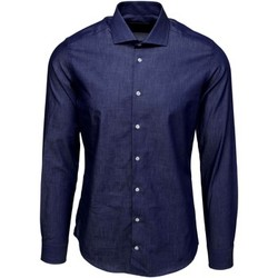 textil Herr Långärmade skjortor Bardvier Harvey Denim Bl