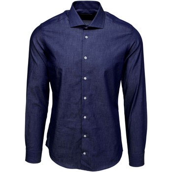 textil Herr Långärmade skjortor Bardvier Harvey Denim Bl?