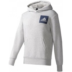 textil Herr Tröjor adidas Originals Essentials Chest Logo Pullover Hood Fleece M Gråa