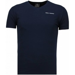 textil Herr T-shirts Local Fanatic Exclusieve V Neck Blå