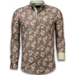 textil Herr Långärmade skjortor Tony Backer För Brun