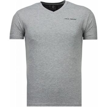 textil Herr T-shirts Local Fanatic Exclusieve V Neck Grå