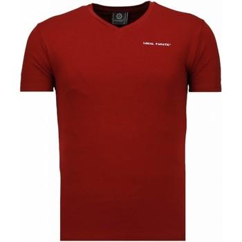 textil Herr T-shirts Local Fanatic Exclusieve V Neck Bordeaux