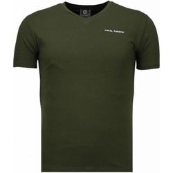 textil Herr T-shirts Local Fanatic Exclusieve V Neck Grön