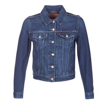 textil Dam Jeansjackor Levi's ORIGINAL TRUCKER Blå / Jeans