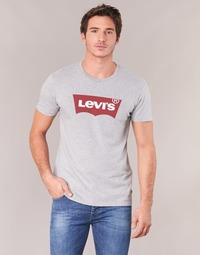 textil Herr T-shirts Levi's GRAPHIC SET-IN Grå
