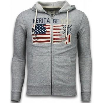textil Herr Koftor / Cardigans / Västar Enos Vest Embroidery American Heritage Grijs Grå