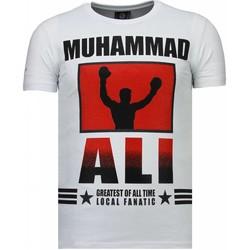 textil Herr T-shirts Local Fanatic Muhammad Ali Rhinestone Vit
