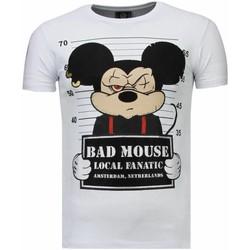 textil Herr T-shirts Local Fanatic State Prison Bad Mouse Rhinestone Vit