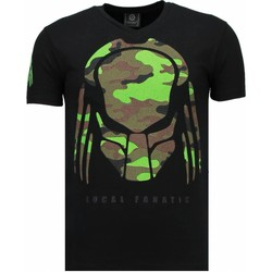 textil Herr T-shirts Local Fanatic Predator Rhinestone Svart
