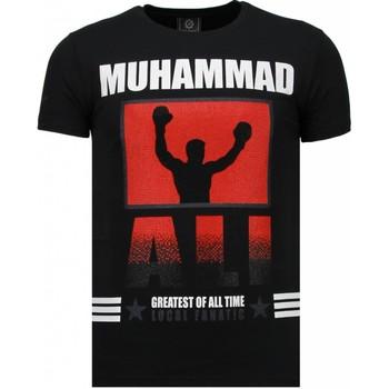 textil Herr T-shirts Local Fanatic Muhammad Ali Rhinestone Svart
