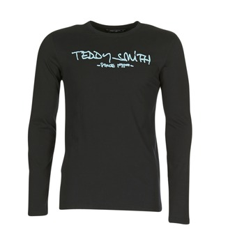 textil Herr Långärmade T-shirts Teddy Smith TICLASS 3 ML Svart