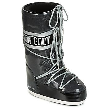 Skor Dam Vinterstövlar Moon Boot MOON BOOT STARRY Svart / Vit