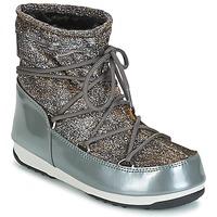 Skor Dam Vinterstövlar Moon Boot MOON BOOT LOW LUREX Grå / Silverfärgad