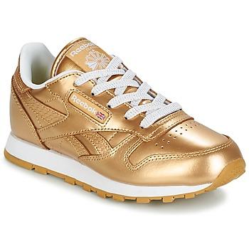 Skor Flick Sneakers Reebok Classic CLASSIC LEATHER MET Guldfärgad