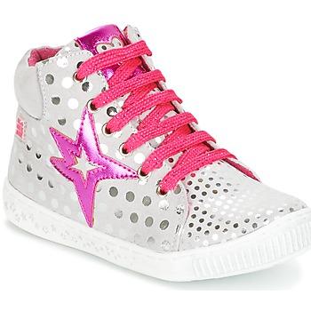 Skor Flick Höga sneakers Agatha Ruiz de la Prada FLOW Silverfärgad