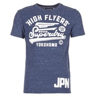 textil Herr T-shirts Superdry HIGH FLYERS REWORKED Marin