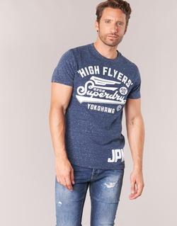 textil Herr T-shirts Superdry HIGH FLYERS REWORKED Marin