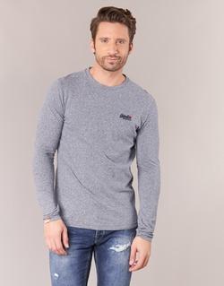 textil Herr Långärmade T-shirts Superdry ORANGE LABEL VINTAGE Grå