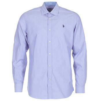 textil Herr Långärmade skjortor U.S Polo Assn. RUSTY Marin