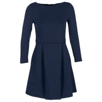 textil Dam Korta klänningar Petit Bateau LAUREANNA Marin