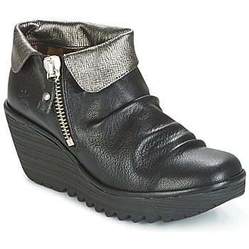 Skor Dam Boots Fly London YOXI Svart / Silverfärgad