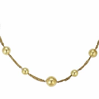 Klockor Dam Halsband Antik Batik ASI NECKLACE Silverfärgad