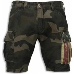 textil Herr Shorts / Bermudas Bb Bread & Buttons Camouflage Kortbyxor Shorts För Grön
