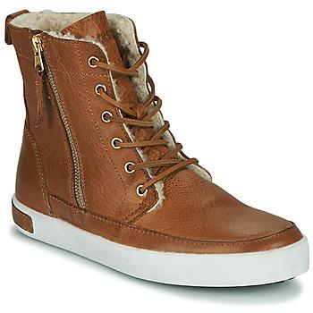 Skor Dam Höga sneakers Blackstone CW96 Brun